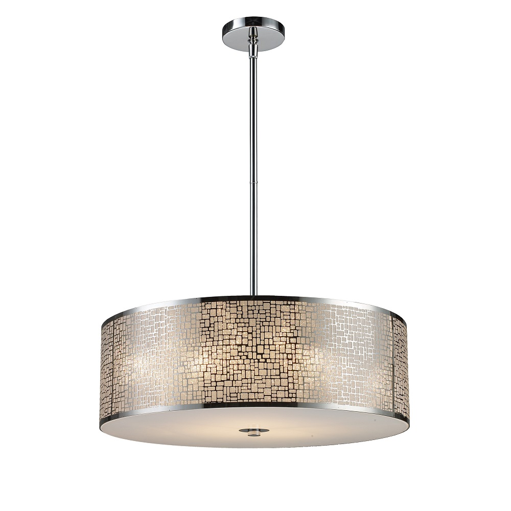 Elk Lighting Drum Pendant : Elk lighting medina light drum pendant l brilliant