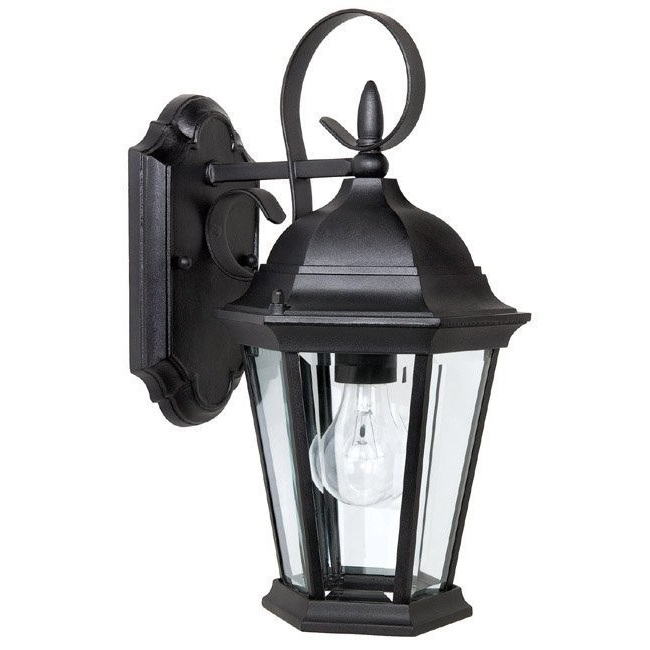 capital lighting carriage house 1 light outdoor wall lantern in black l brilliant source lighting
