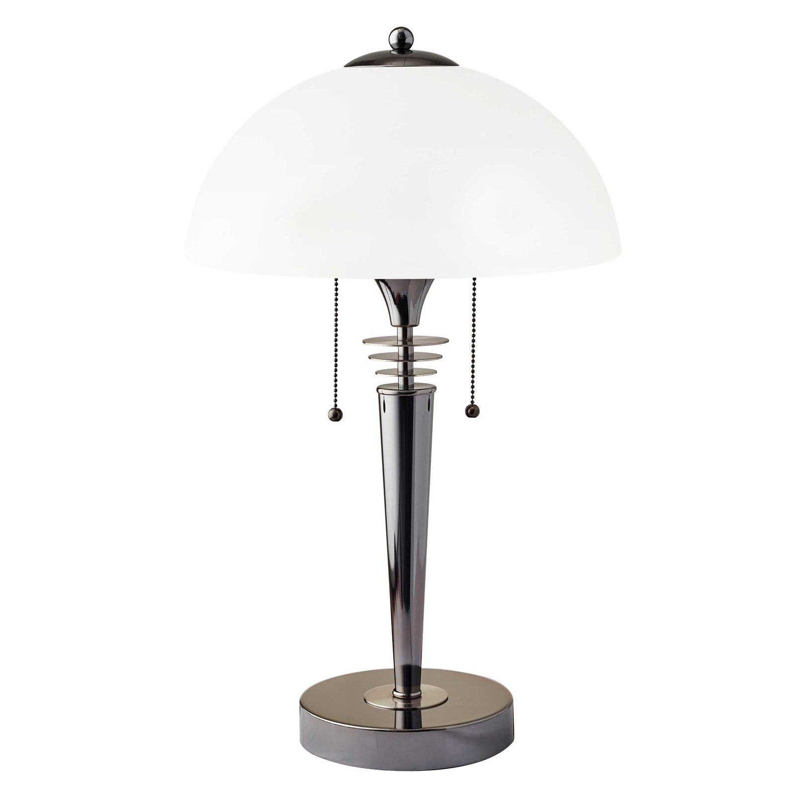 Adesso Metropolis Table Lamp With Bowl Shade In Black