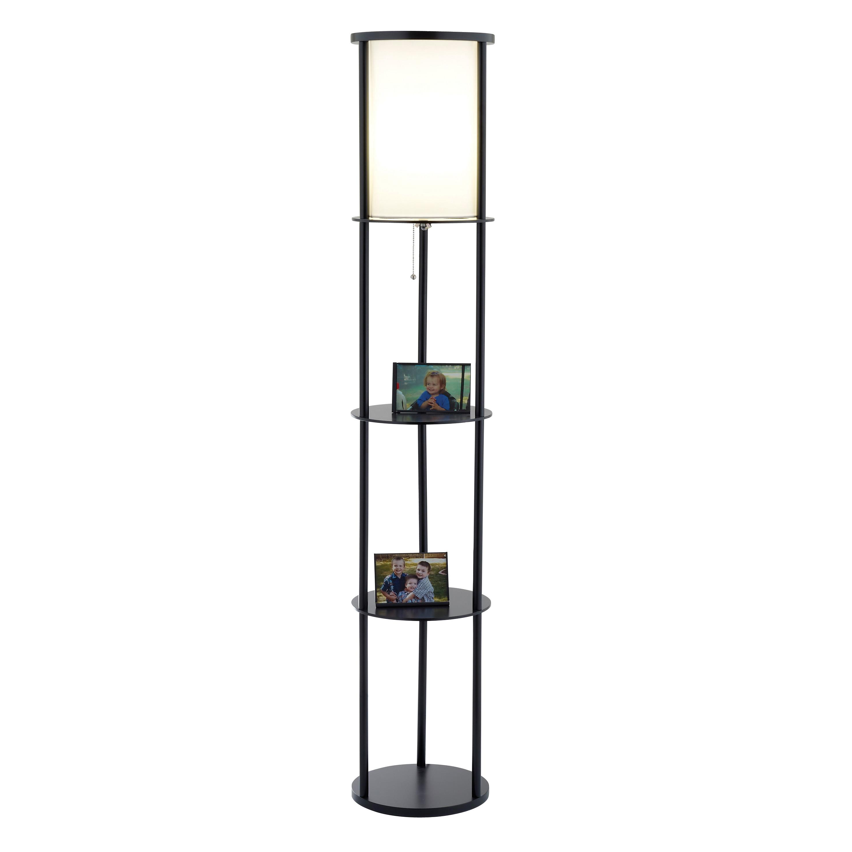 Adesso stewart 1 light shelf floor lamp l brilliant source for Floor lamp with shelves