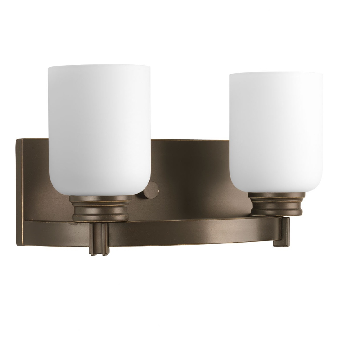 Progress Lighting Orbitz 2 Light Bath Vanity Light In Antique Bronze l Brilliant Source Lighting