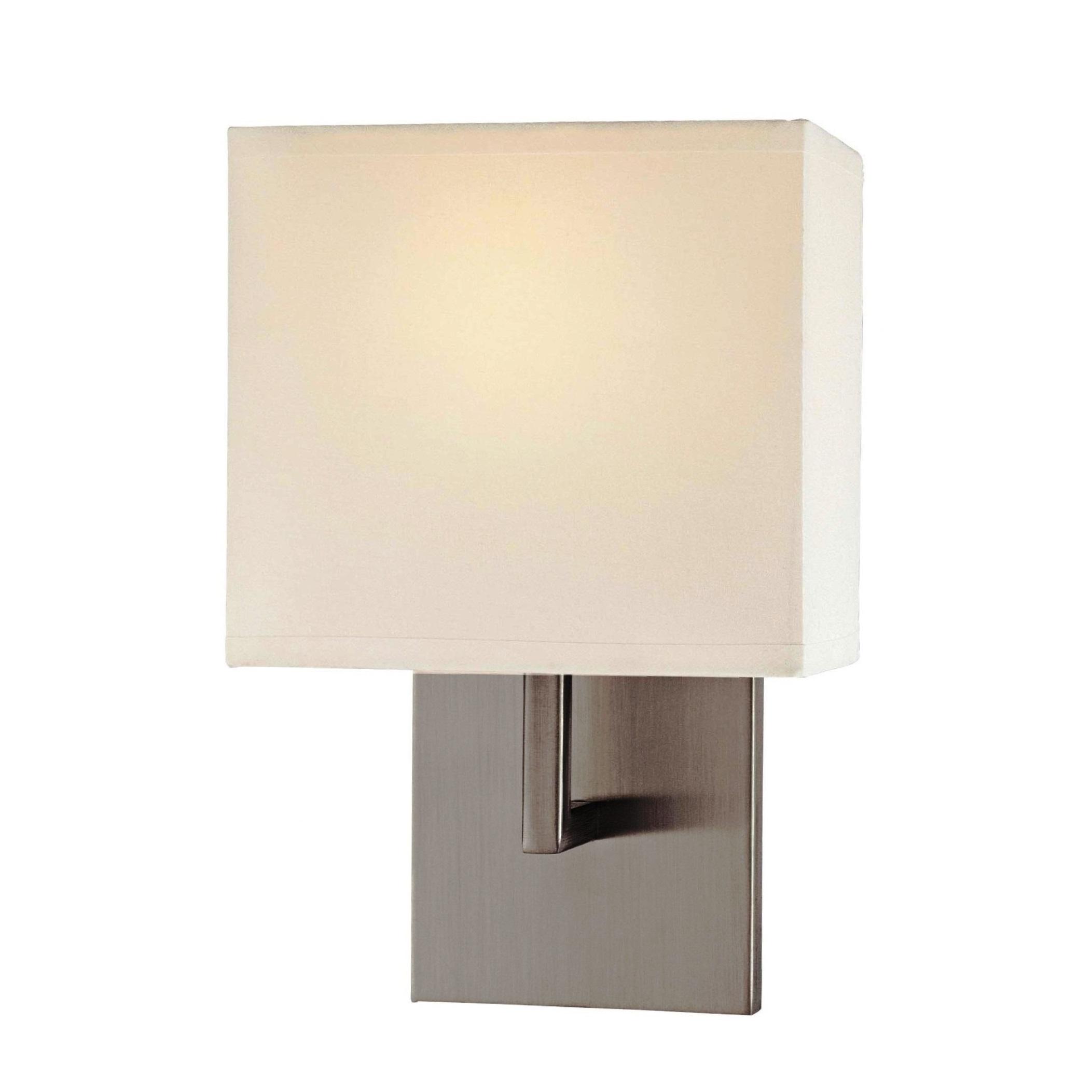 george kovacs 1 light wall sconce in brushed nickel l. Black Bedroom Furniture Sets. Home Design Ideas