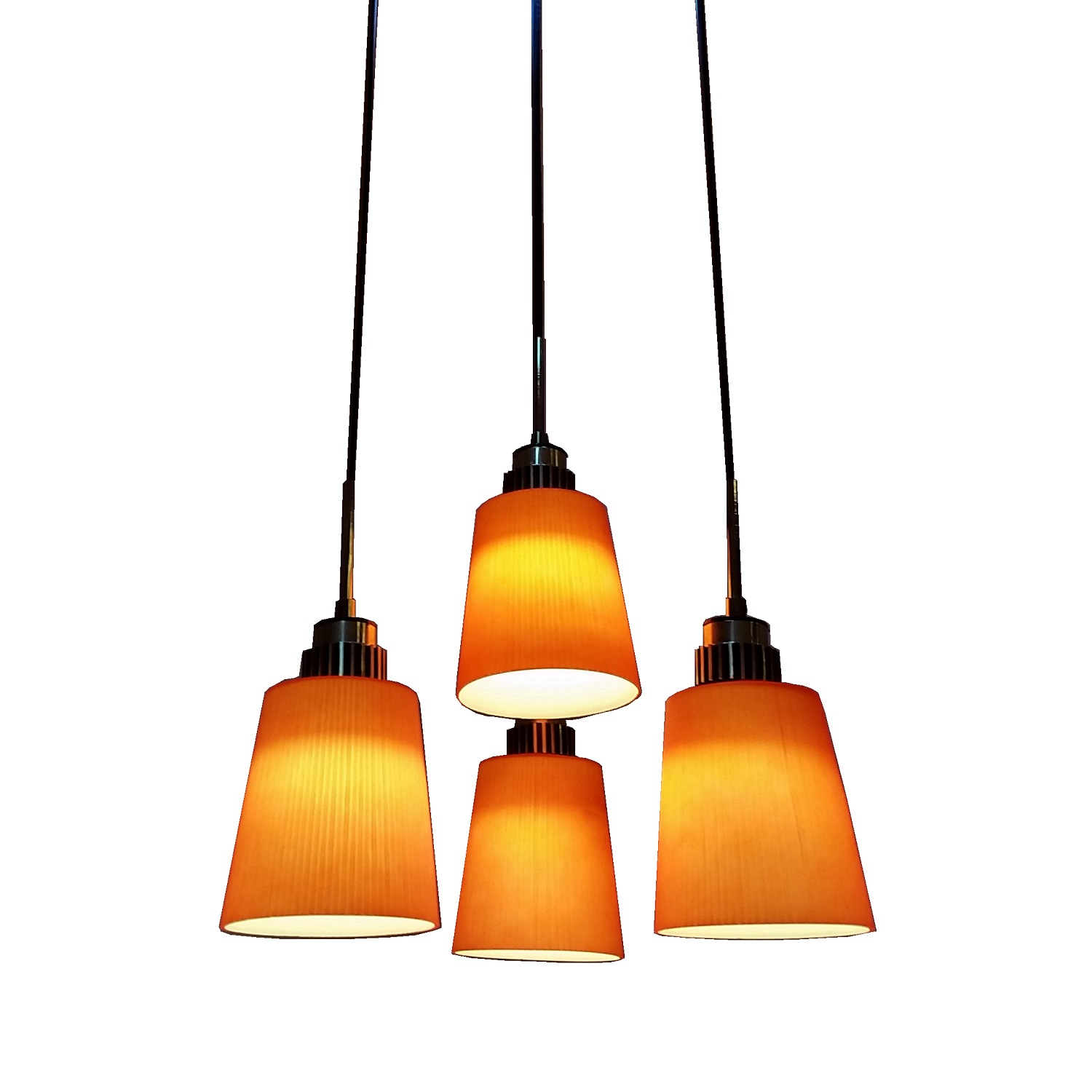 4 Light LED Hanging Pendant Lamp In RED L Brilliant Source