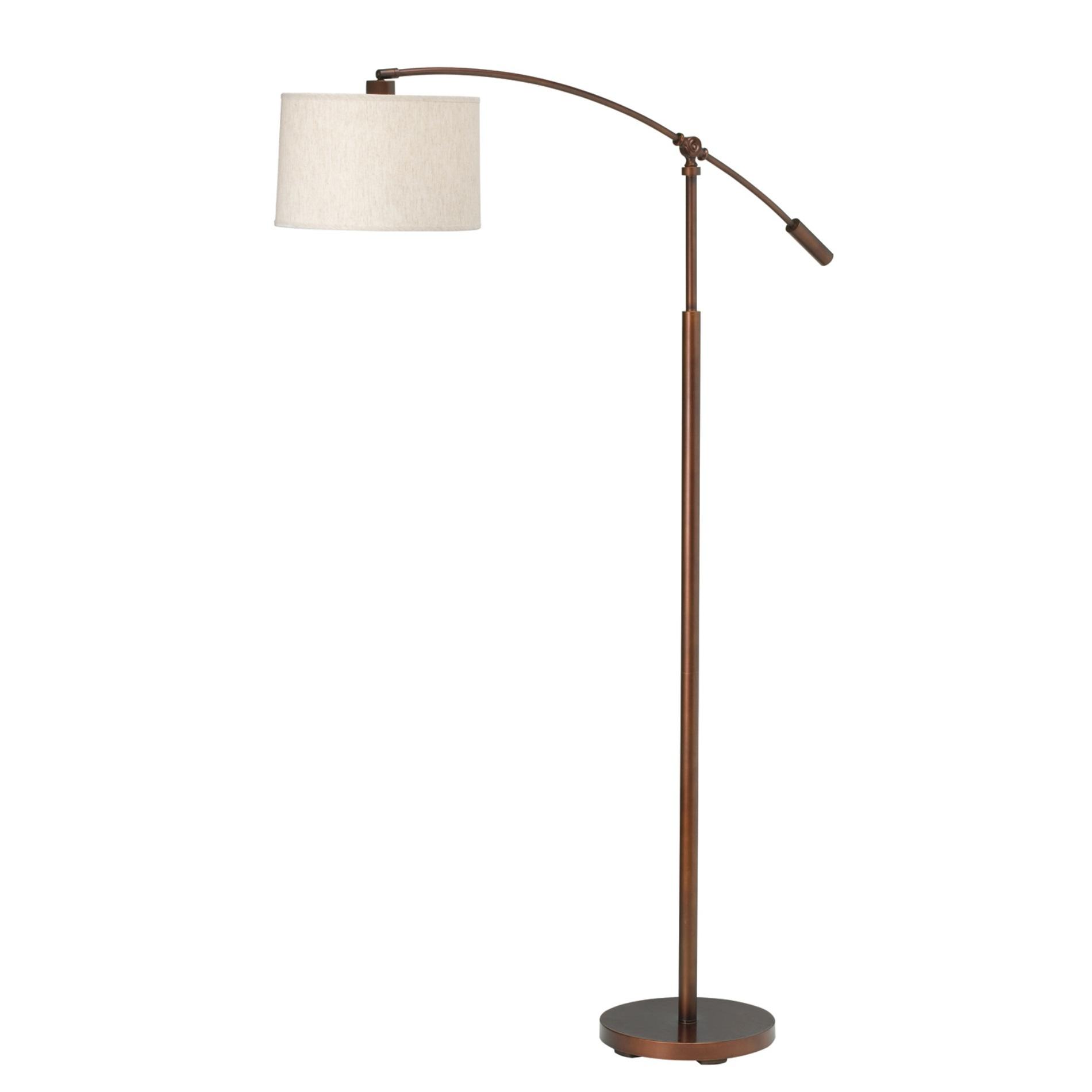 Kichler Cantilever Floor Lamp In Burnish Copper Bronze L Brilliant Source Lighting