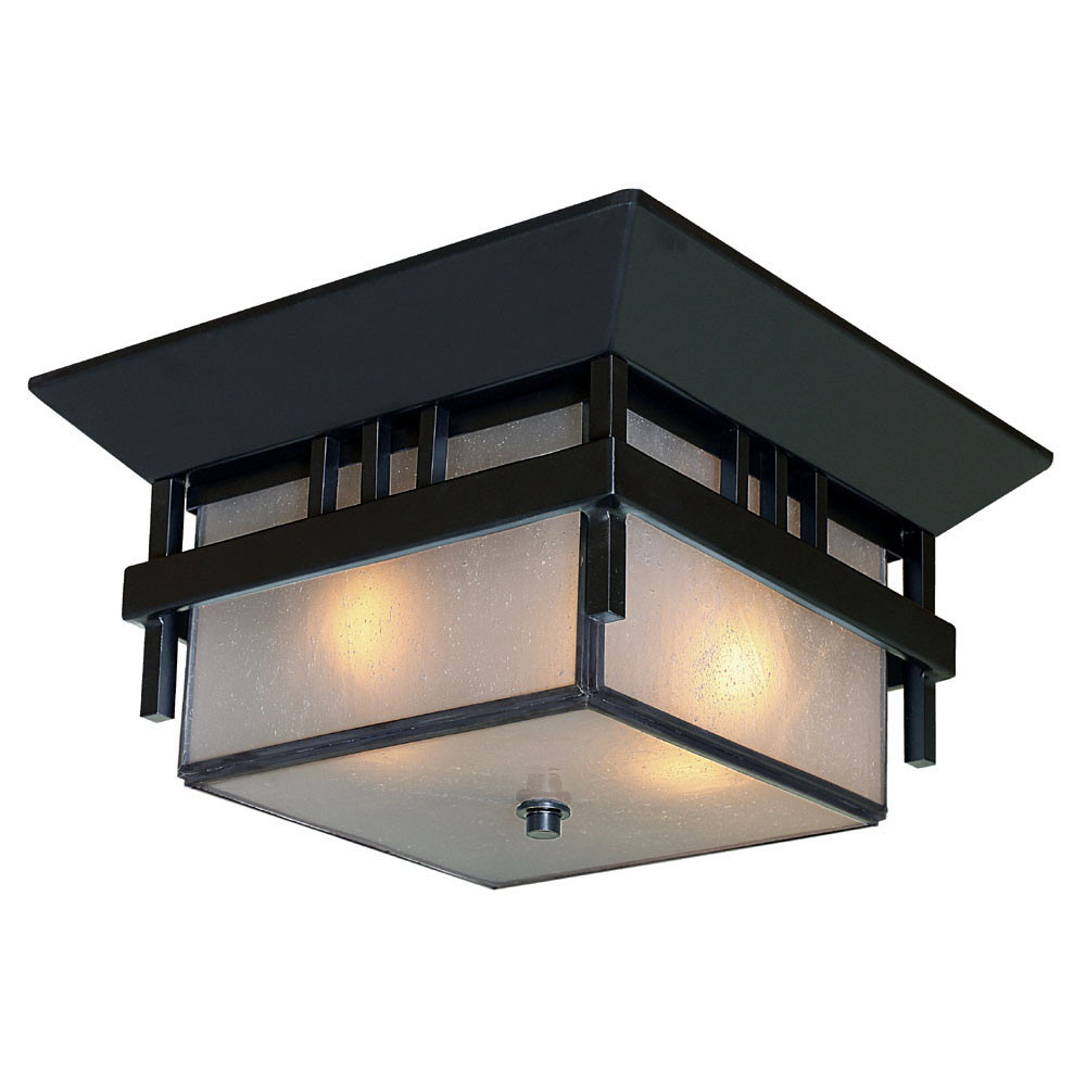 Acclaim Lighting Bali 2 Light Flush Mount In Matte Black L