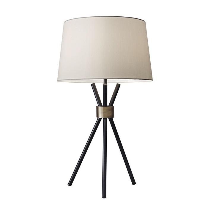 Adesso Benson Table Lamp With Empire Shade L Brilliant