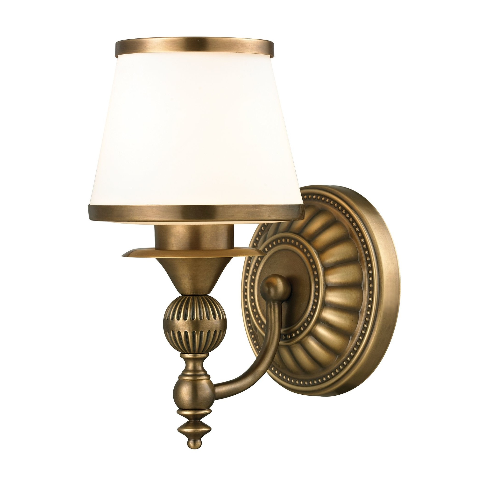 Bathroom Vanity Lights Brass: Elk Lighting Smithfield 1 Light Bath Vanity Light In Aged