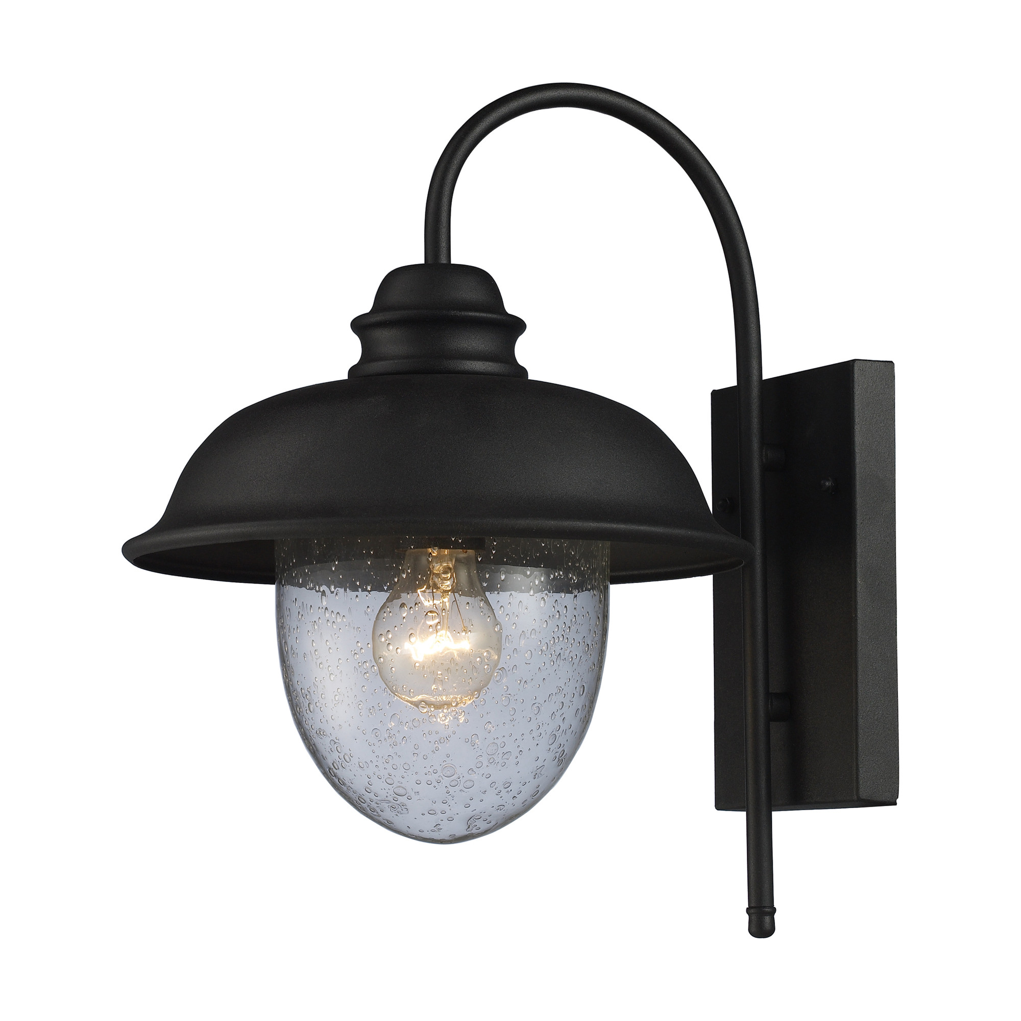 Elk lighting streetside cafe 1 light outdoor wall lantern l brilliant source lighting for Exterior light sconce