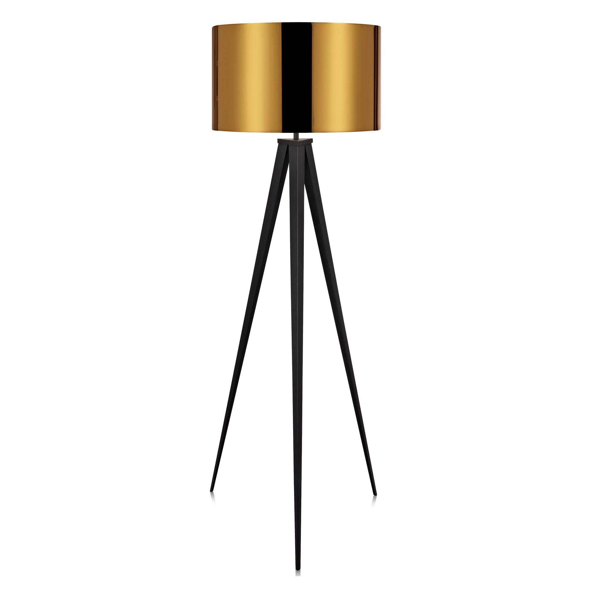 versanora romanza tripod floor lamp in gold l brilliant source. Black Bedroom Furniture Sets. Home Design Ideas