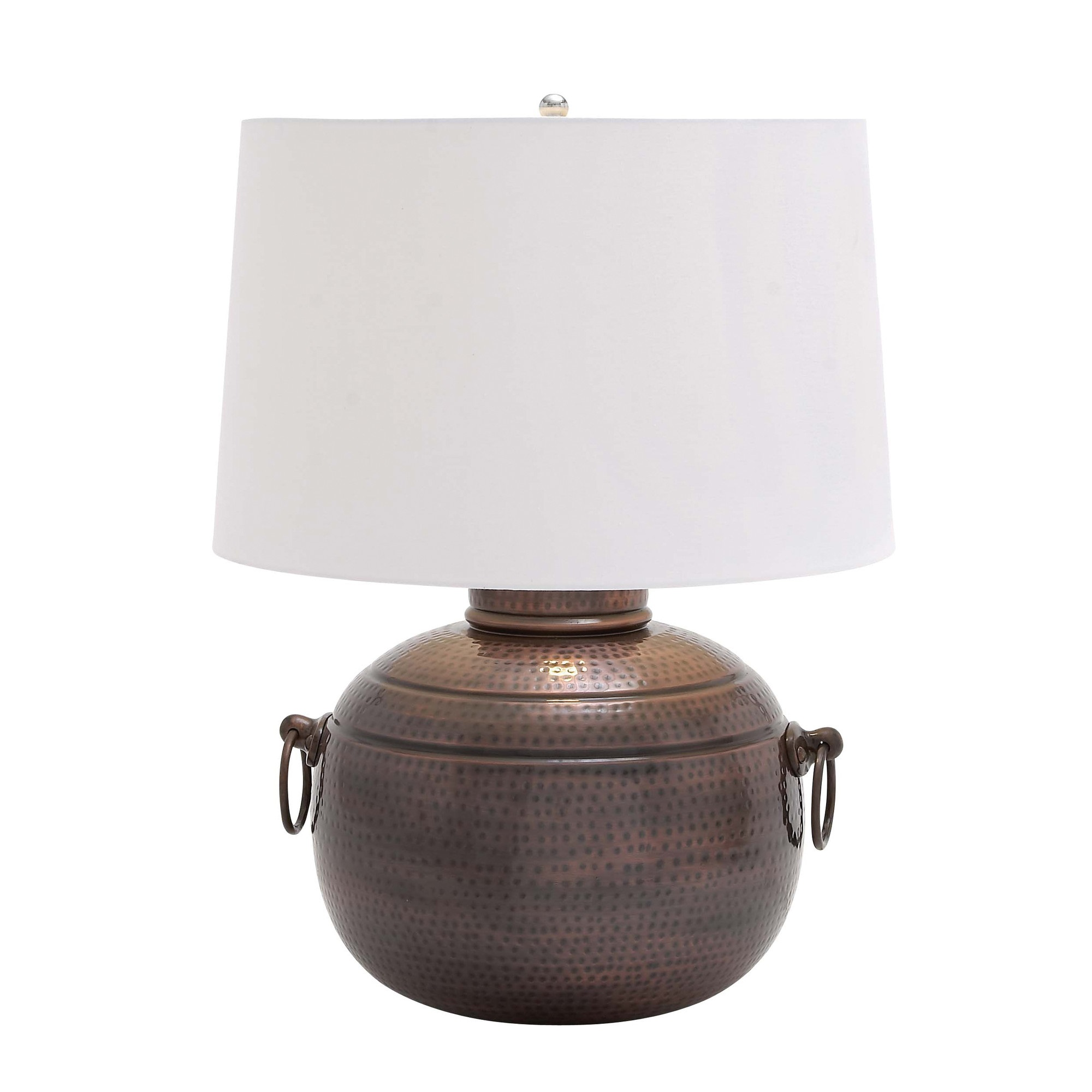 Woodland imports hammered design metal table lamp l brilliant woodland imports hammered design metal table lamp l brilliant source lighting geotapseo Gallery
