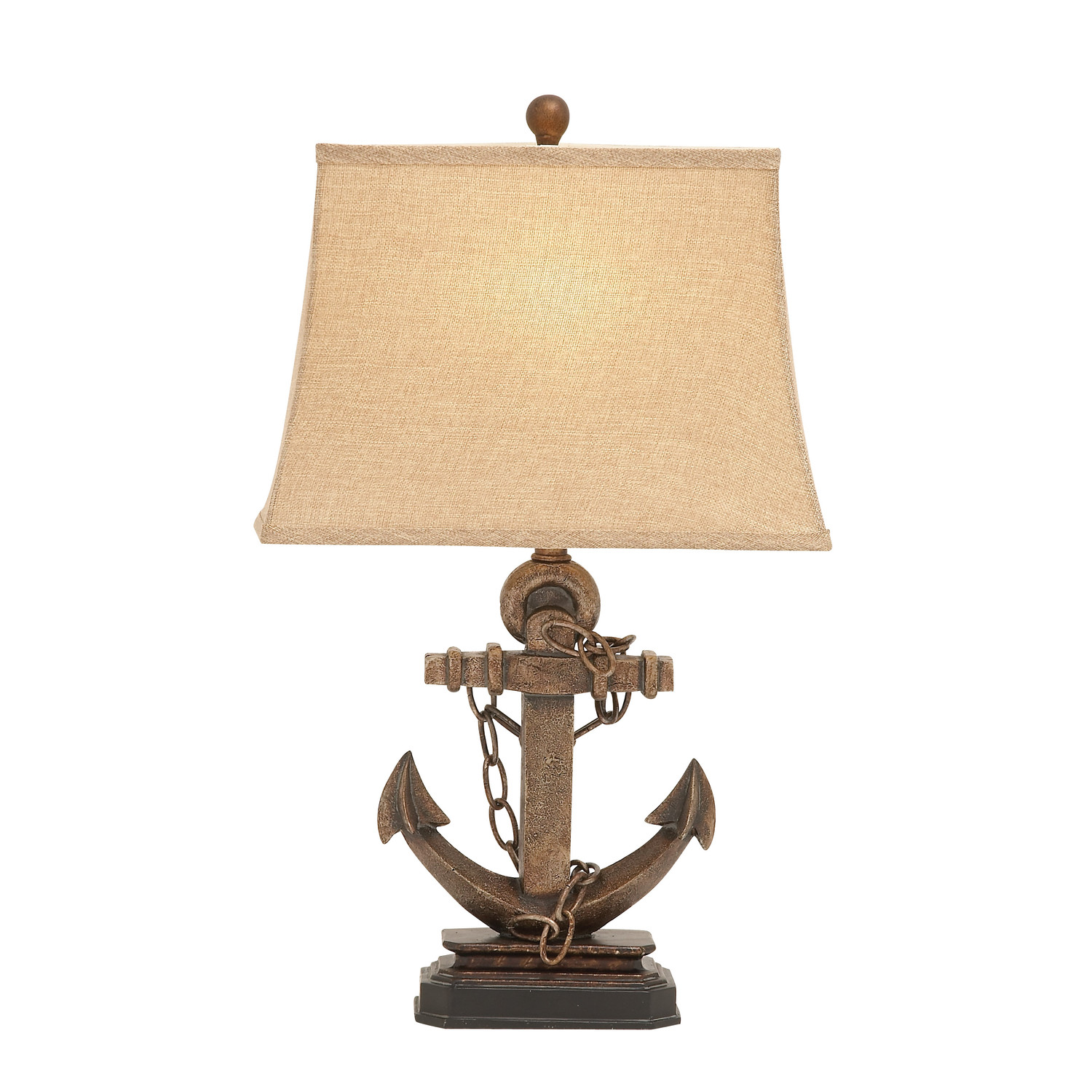 Metal Bell Lamp Shade: Woodland Imports Polystone Metal Table Lamp With Bell