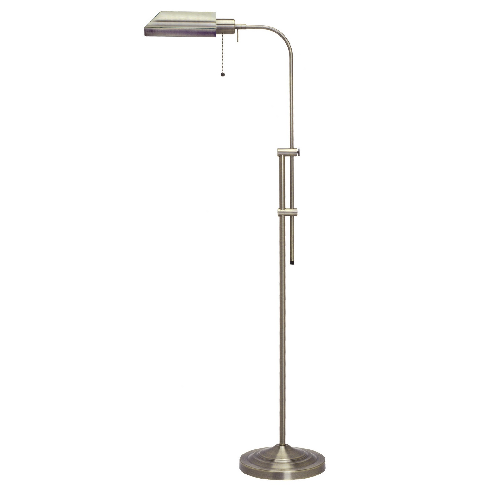 Cal Lighting Pharmacy Floor Lamp With Antique Bronze Shade