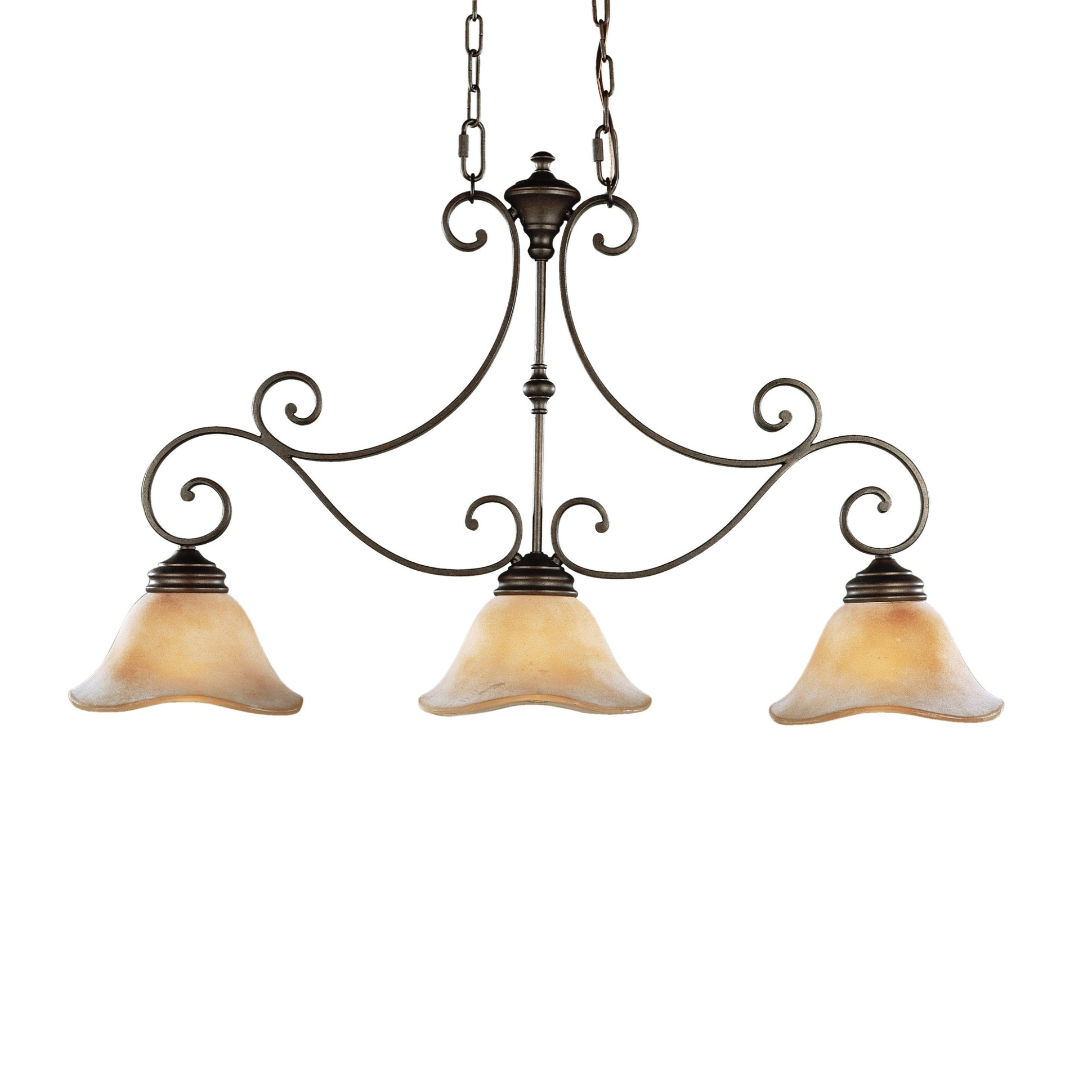 Feiss Tuscan Villa 3 Light Kitchen Island Pendant L Brilliant Source Lighting