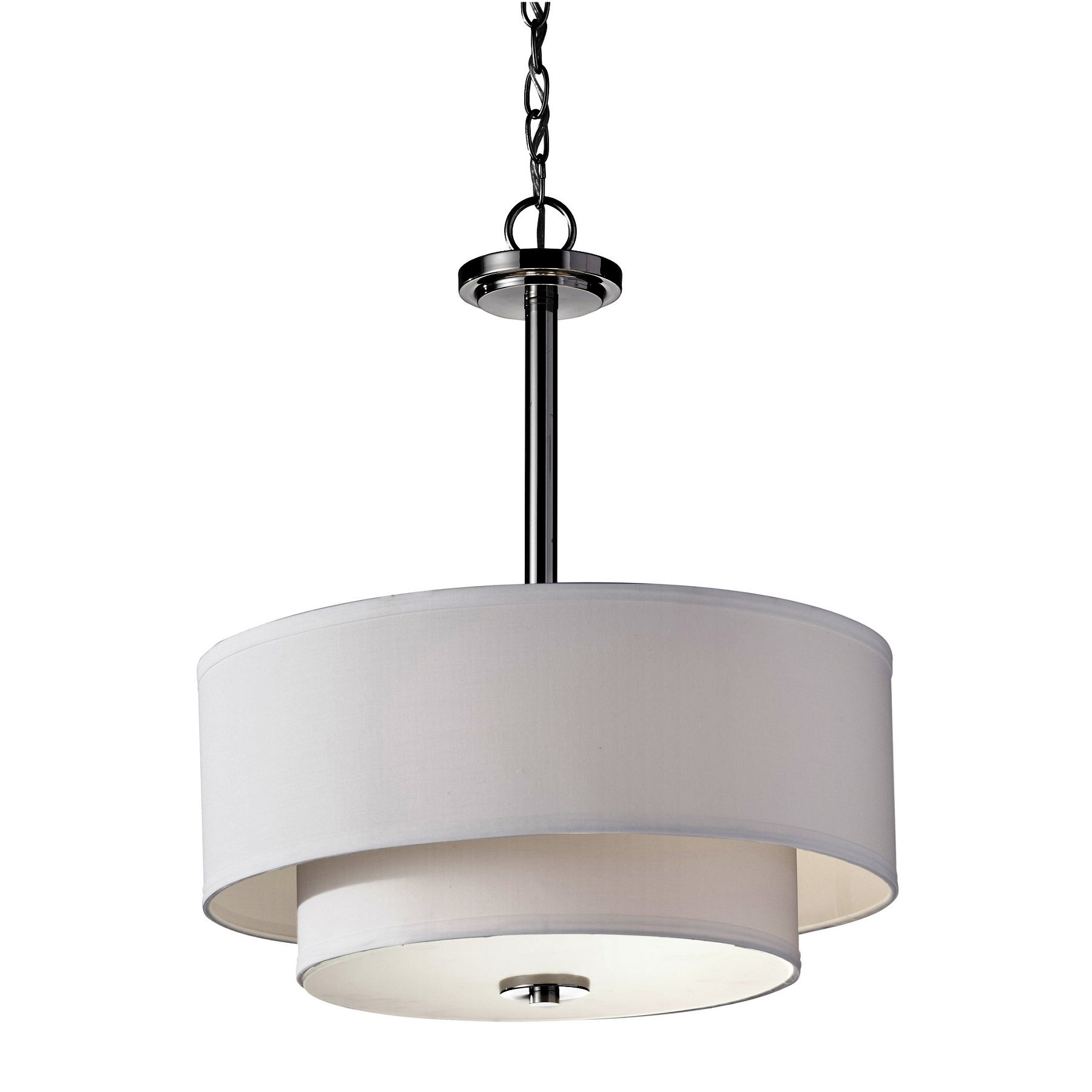 Feiss Malibu 3 Light Drum Pendant L Brilliant Source Lighting
