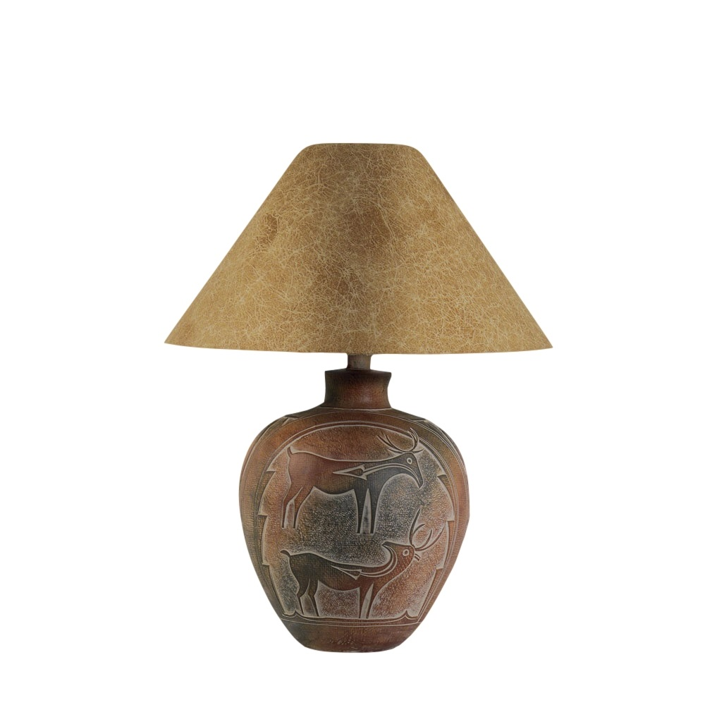 Anthony California Table Lamp In Indian Deer L Brilliant