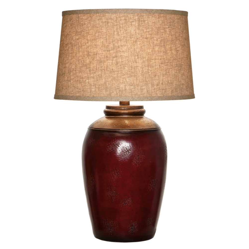 Anthony California Table Lamp In Antique Burgundy L