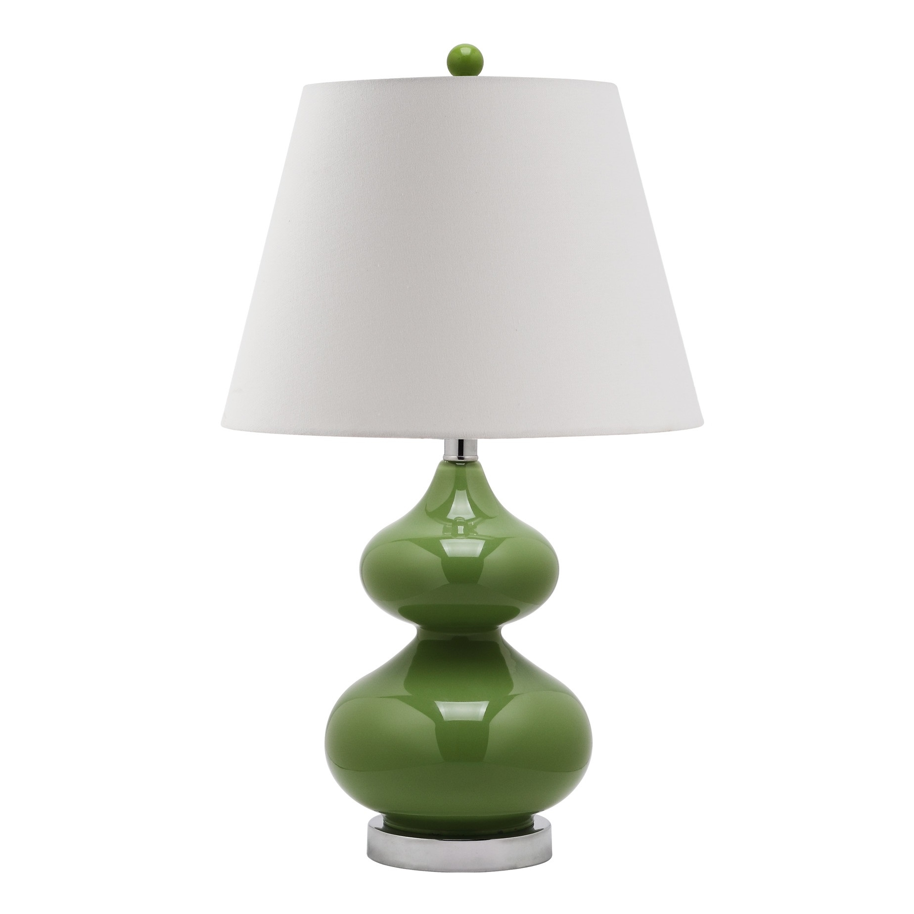 Safavieh Eva Double Gourd Table Lamp In Fern Green L