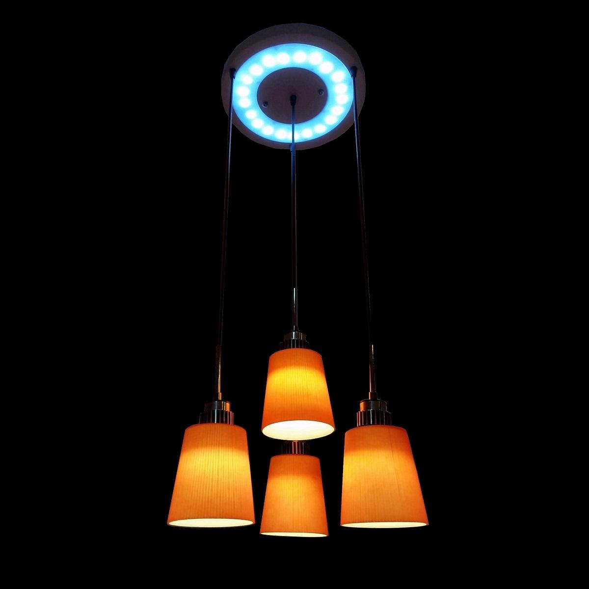 Hanging Lamp Led: 4 Light LED Hanging Pendant Lamp In RED L Brilliant Source