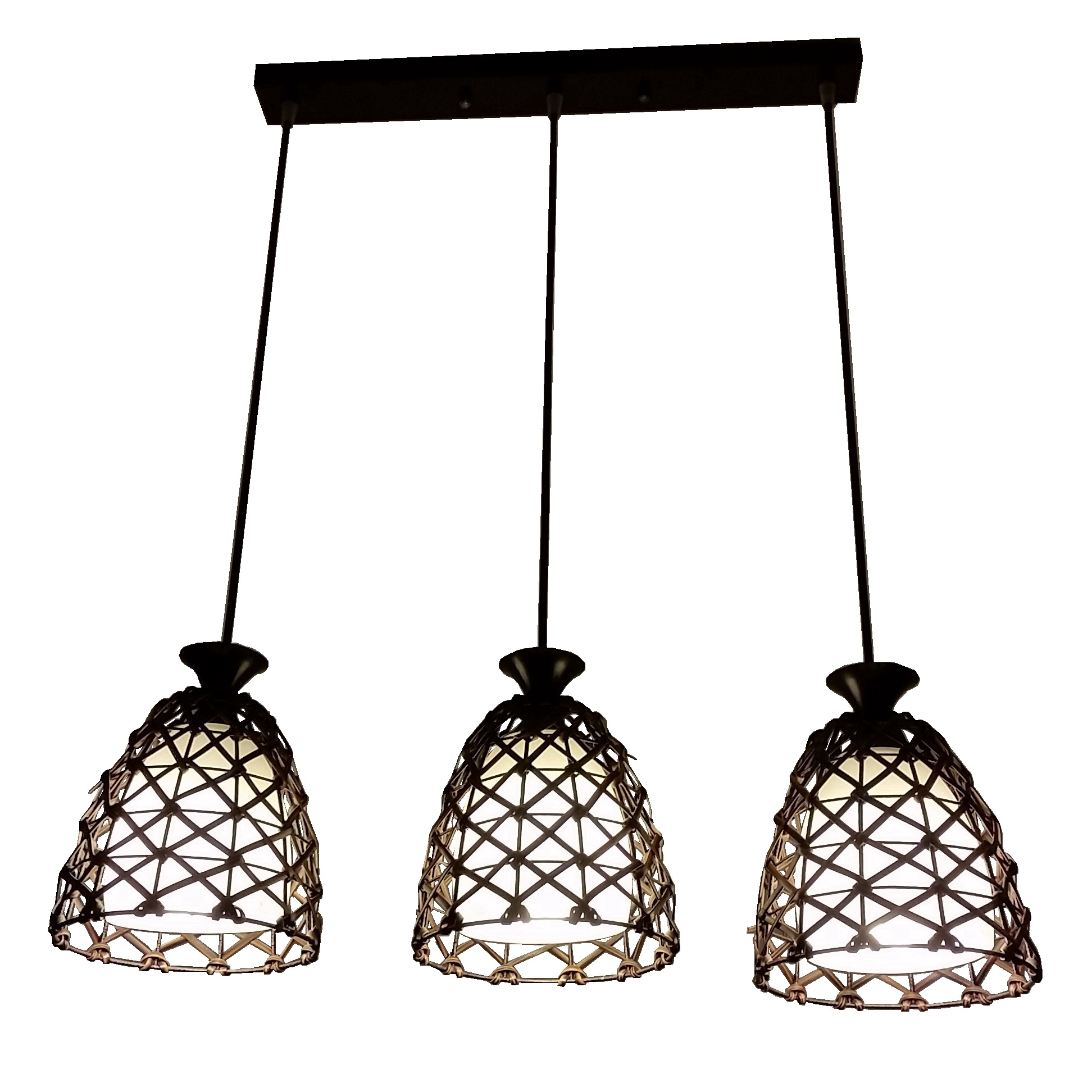 PL1919 3 Hanging Pendant Lamp L Brilliant Source Lighting