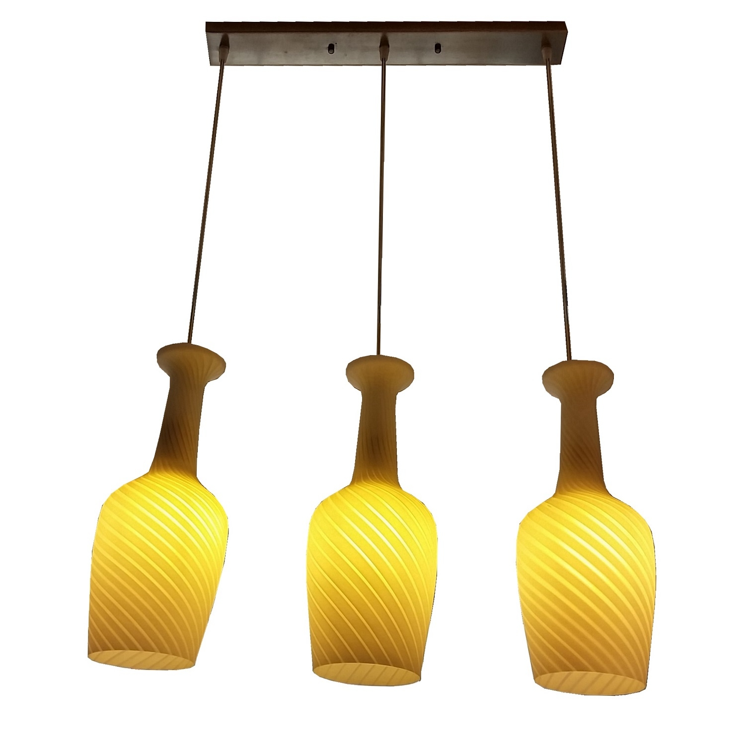 PL1997 3 Hanging Pendant Lamp L Brilliant Source Lighting