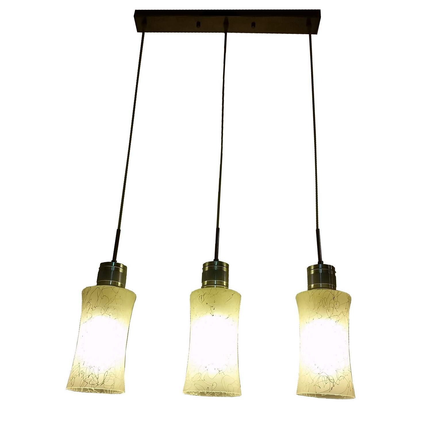 PL2020 3 Hanging Pendant Lamp L Brilliant Source Lighting