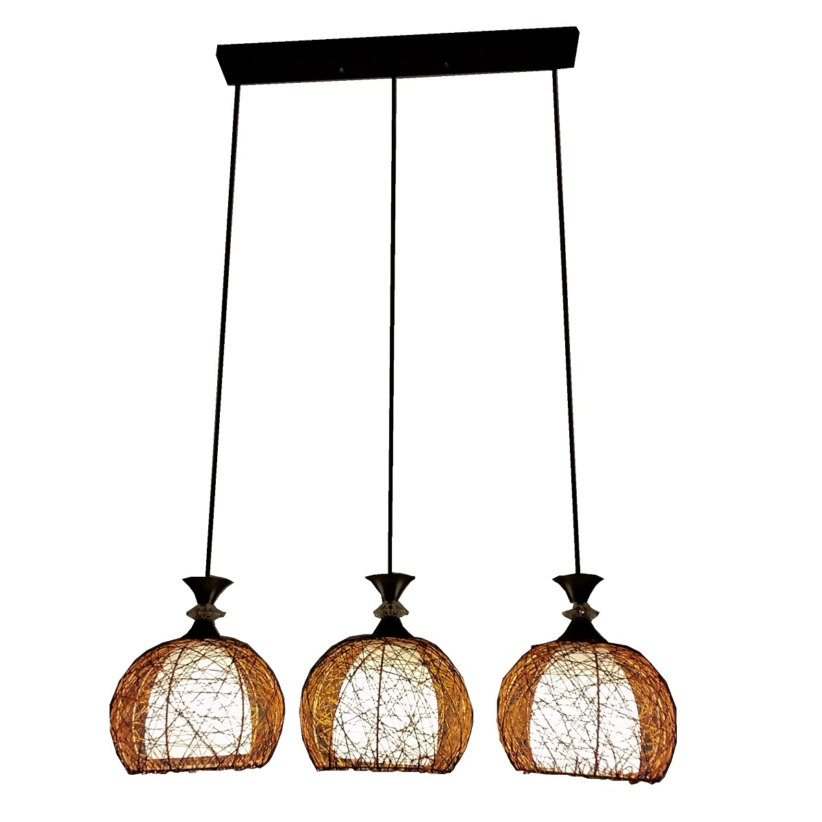 PL6170 3 Hanging Pendant Lamp L Brilliant Source Lighting