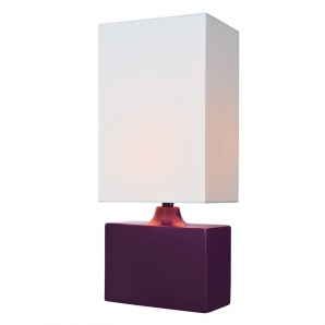 Lite Source Kara 1 Light Table Lamp in Purple LS-22378PURP
