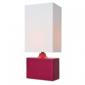 Lite Source Kara 1 Light Table Lamp in Rose LS-22378ROSE