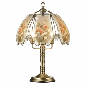 ORE Humming Bird Scene Touch Table Lamp with Bowl Shade