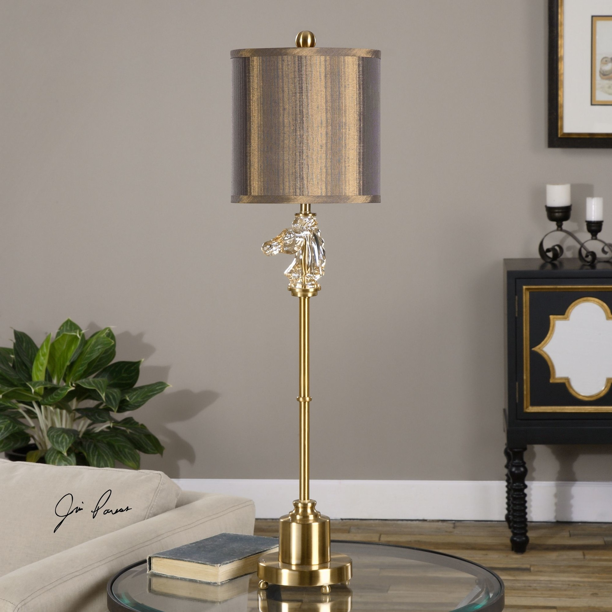 Uttermost Cavalier Buffet Table Lamp With Drum Shade L