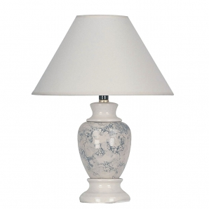 "ORE  15"" H Ceramic Table Lamp 609IV/BK"