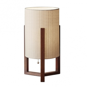 Quinn Decor Table Lamp in Walnut by Adesso