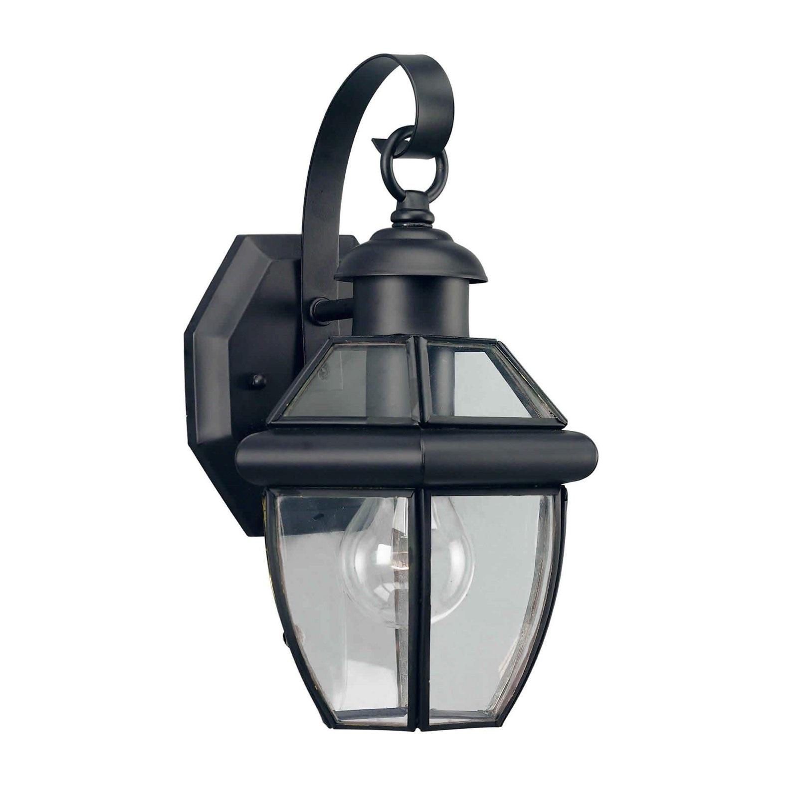 Black Lantern Wall Lights : Forte Lighting 1 Light Outdoor Wall Lantern In Black l Brilliant Source Lighting