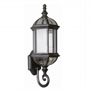 TransGlobe Lighting Outdoor 1 Light Wall Lantern In Black