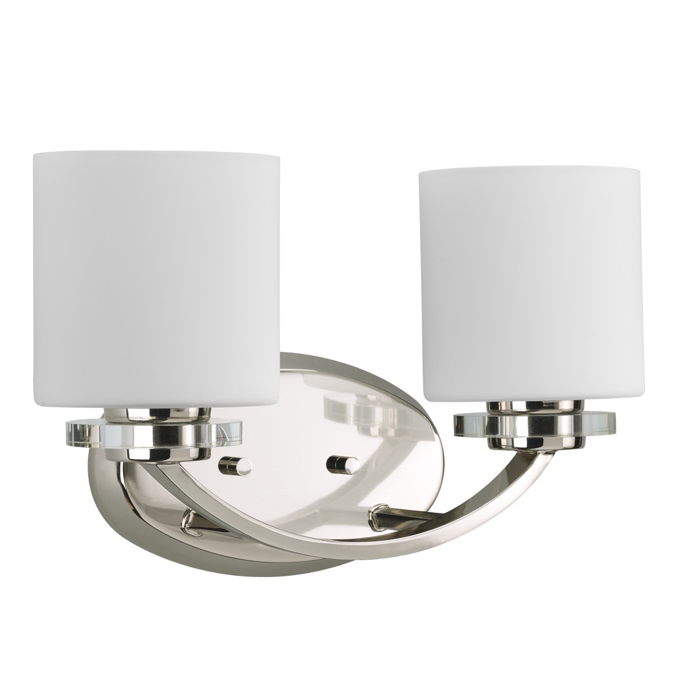 Progress Lighting Nisse 2 Light Bath Vanity Light In Polished Nickel L Brilliant Source Lighting