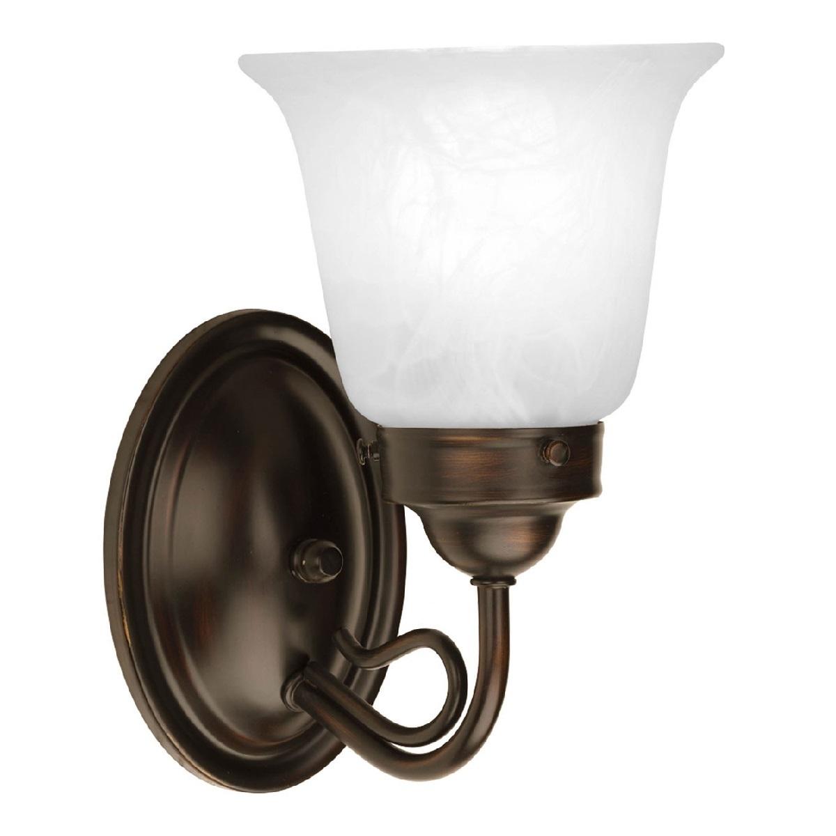 Antique Bronze Vanity Lights : Progress Lighting Bedford 1 Light Bath Vanity Light In Antique Bronze l Brilliant Source Lighting