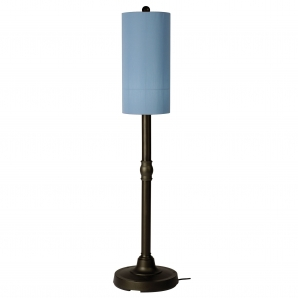 Patio Living Concepts Coronado Outdoor Floor Lamp In Sky Blue