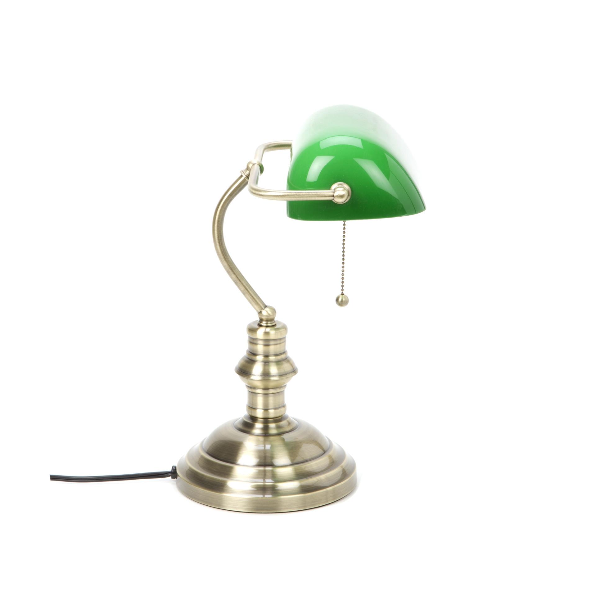 Lite Source Clic Antique Br Banker Desk Lamp