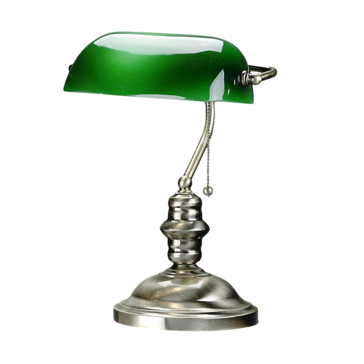 Lite Source Classic Banker Table Lamp In Antique Brass L