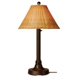 Patio Living Concepts Tahiti II Table Lamp with Wicker Shade
