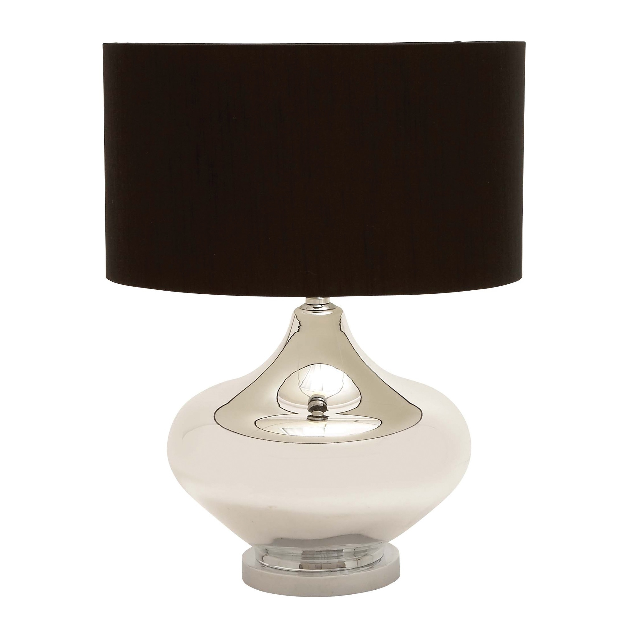 Woodland imports table lamp with brown drum shade l for Brown table lamp shades