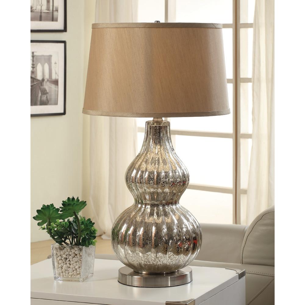 Anthony California Table Lamp In Chrome Antique Mercury