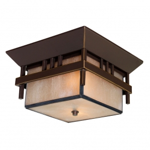 Acclaim Lighting Bali 2 Light Flush Mount In Architectural Bronze