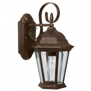 Capital Lighting Carriage House 1 Light Outdoor Wall Lantern In Tortoise