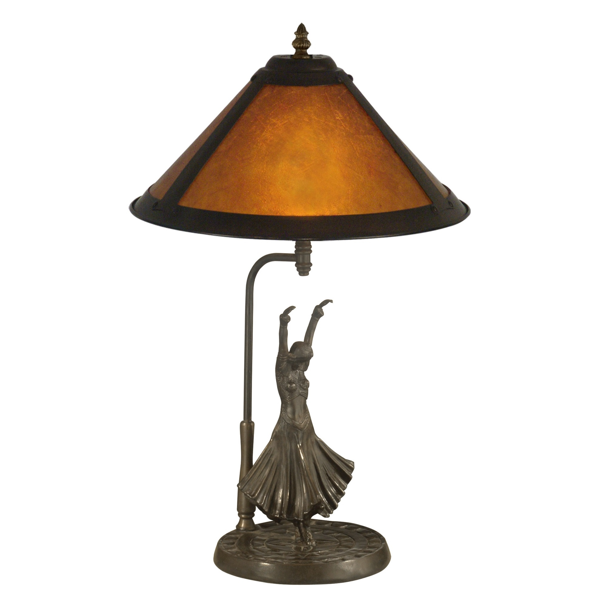 Dale Tiffany Mica Dancer 2 Light Table Lamp L Brilliant