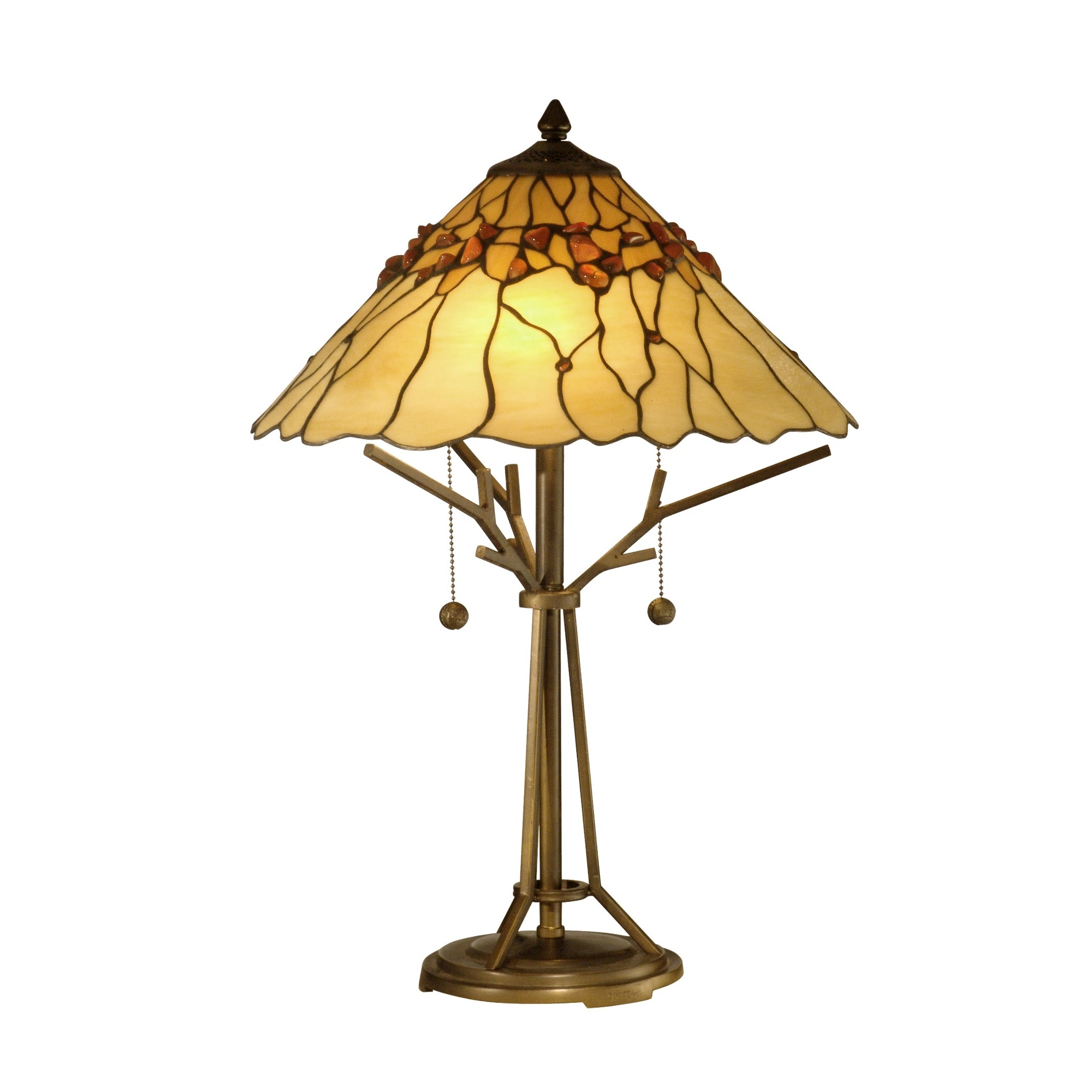 Dale Tiffany Branch Base Tiffany 2 Light Table Lamp L Brilliant Source Lighting