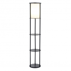 Adesso Stewart 1 Light Shelf Floor Lamp