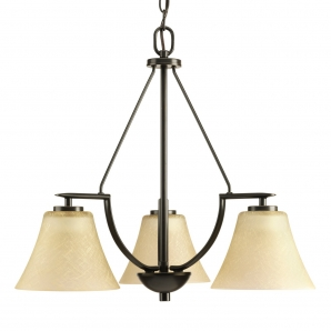 Progress Lighting Bravo 3 Light Chandelier in Antique Bronze