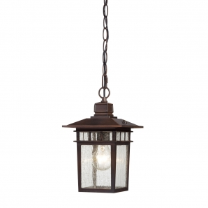 Nuvo Lighting Cove Neck 1 Light Outdoor Hanging Lantern in Rustic Bronze