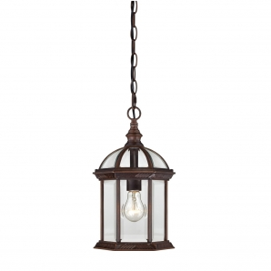 Nuvo Lighting Boxwood 1 Light Outdoor Hanging Lantern in Rustic Bronze